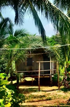Eine der urigen Billig Hütten