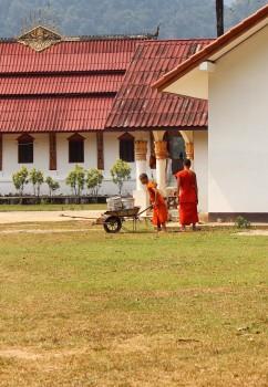 Tempel in einem Dorf