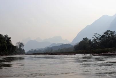 Mit dem Boot zurück nach Nong Khiaw