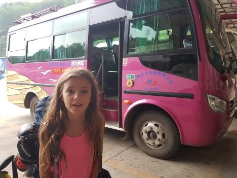 Der kleine rosa Bus